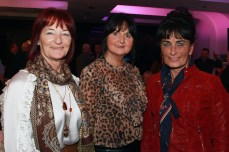 Marguerite O'Brien, Teresa Delius and Maeve Troupe Kelly pictured at the Castlemartyr members evening with Peter Alliss. Picture: Niall O'Shea