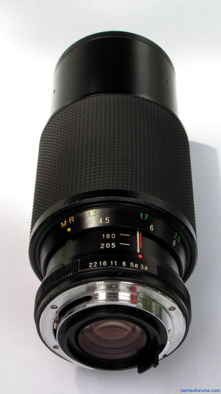 The Vivitar 70-205mm F3.8 Macro Focusing Lens. Found on PentaxForums.com