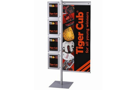 Multistand Banner and Brochure Display System