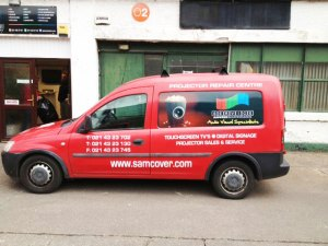Vehicle branding - Samcover car