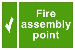 Fire Assembly Point Display Sign