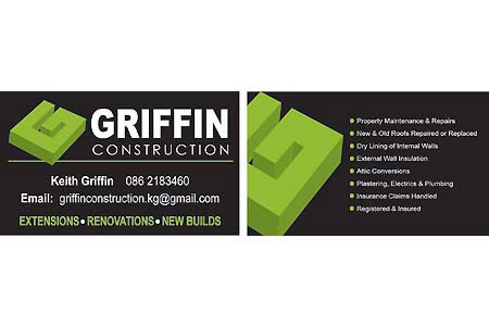 Griffin construction business card cork signs griffin construction business card colourmoves