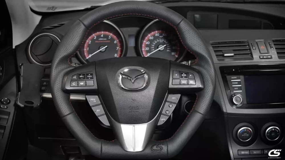 medium resolution of upgrade the look of your interior with the corksport leather wrapped steering wheel for the 2010