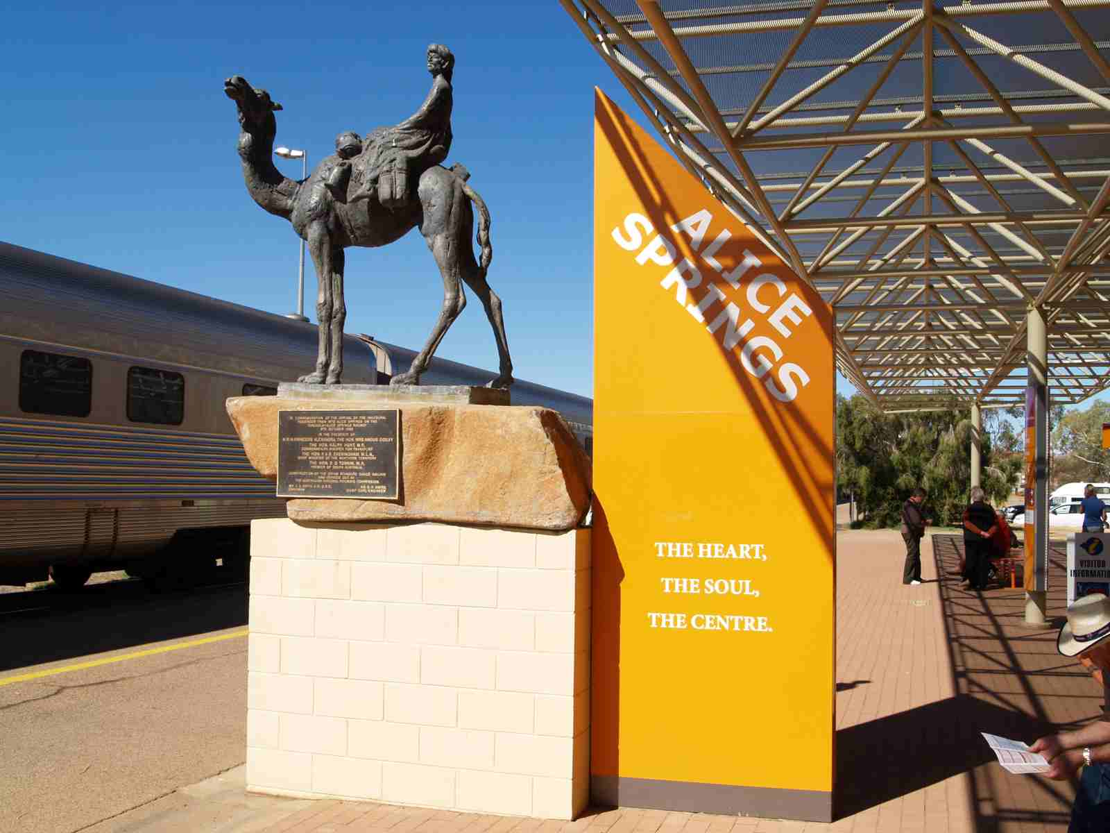 The Ghan Monument at Alice Springs
