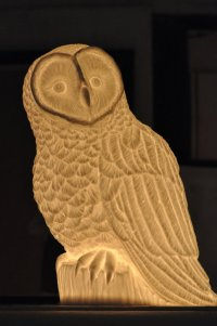 Bone china owl lamp