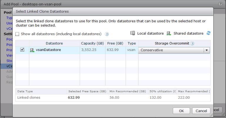 Select VSAN datastore