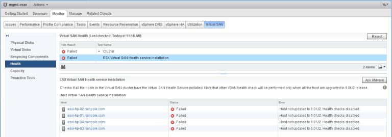7. health check failed