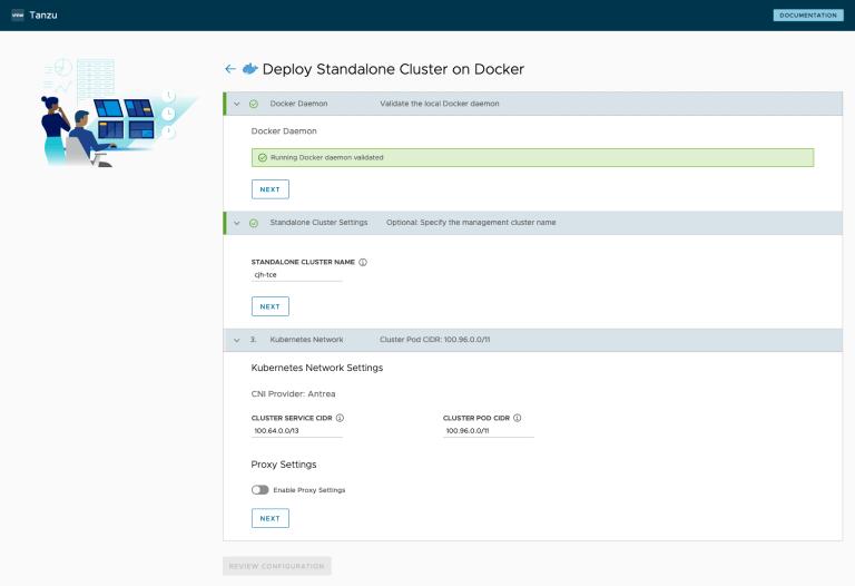 Tanzu Community Edition Standalone Cluster on Docker