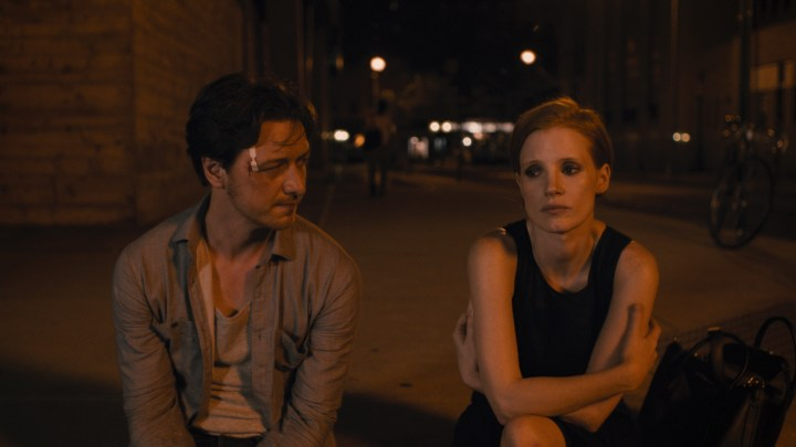 (L-R) JAMES MCAVOY and JESSICA CHASTAIN star in THE DISAPPEARANCE OF ELEANOR RIGBY