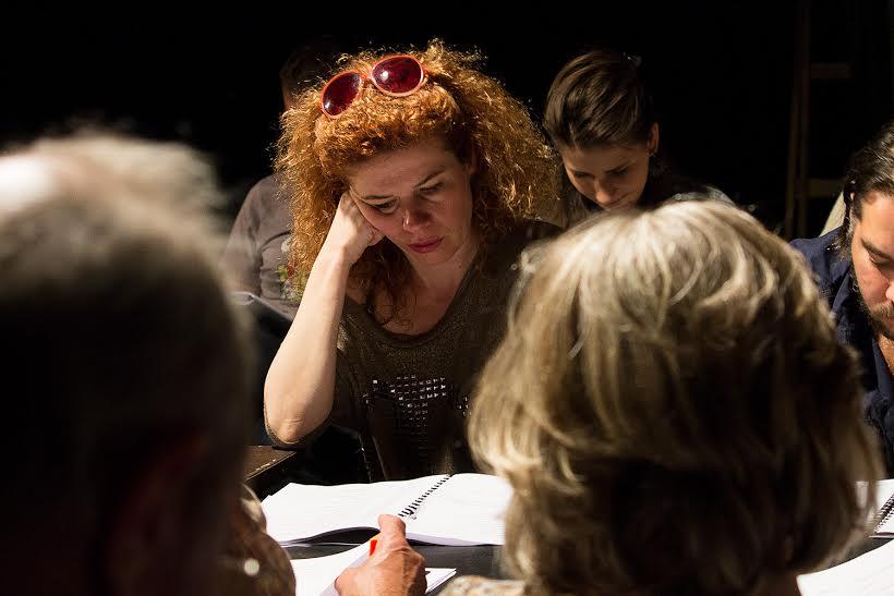 A konyha olvasópróbáján Fotó: Faluhelyi Fanni