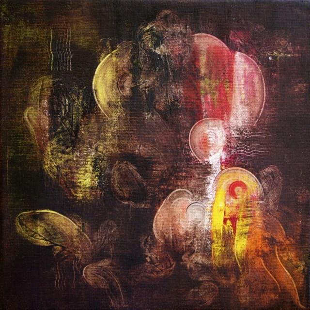 Balogh Ádám: Szakrális gyökerek a Napban I. /20x20 cm, olaj, vászon, 2012/