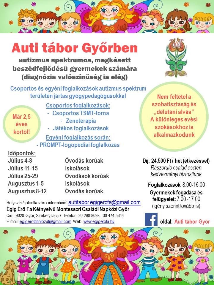 Plakát Auti tábor Győr Égig Érő fa 2016 nyár V02 [1750421]