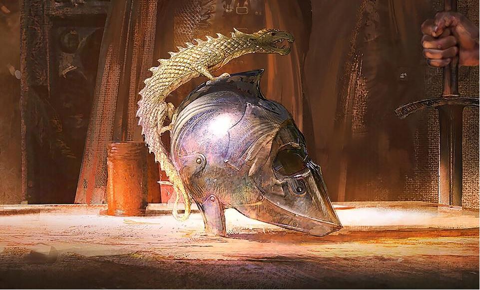 Dor-Lómin-Sárkány-sisakja.-Klaus-Wittmann-illusztrációja