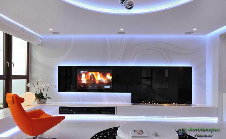 дизайн стены в гостиной фото 1
