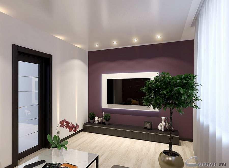 дизайн зала в квартире 20 квм фото 2