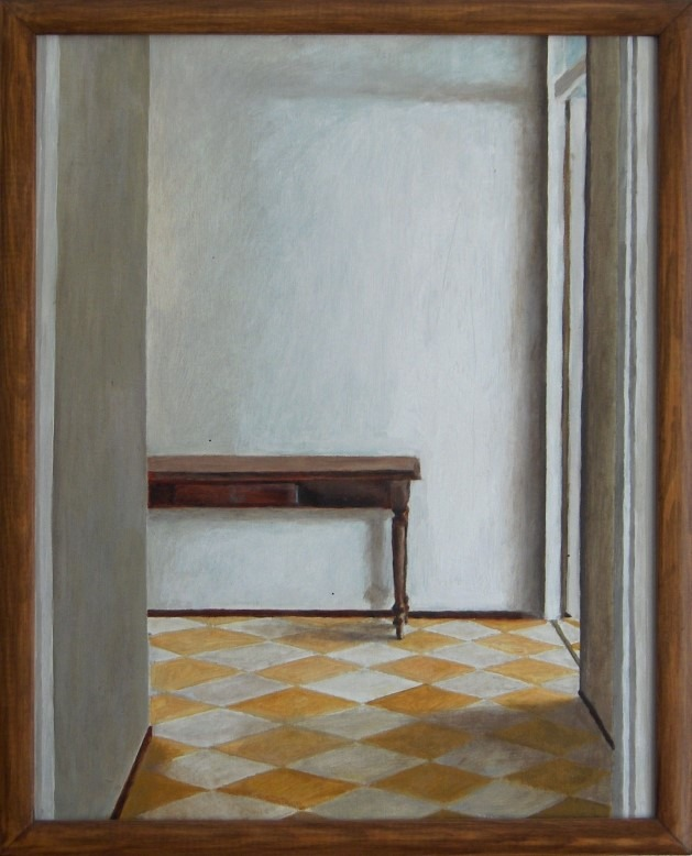 Realistic interior oil painting