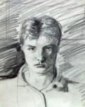 Realistic portrait graphite pencil drawing thumbnail