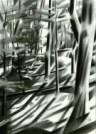 cubistic treescape graphite pencil drawing thumbnail