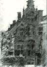 impressionistic urban graphite pencil drawing thumbnail