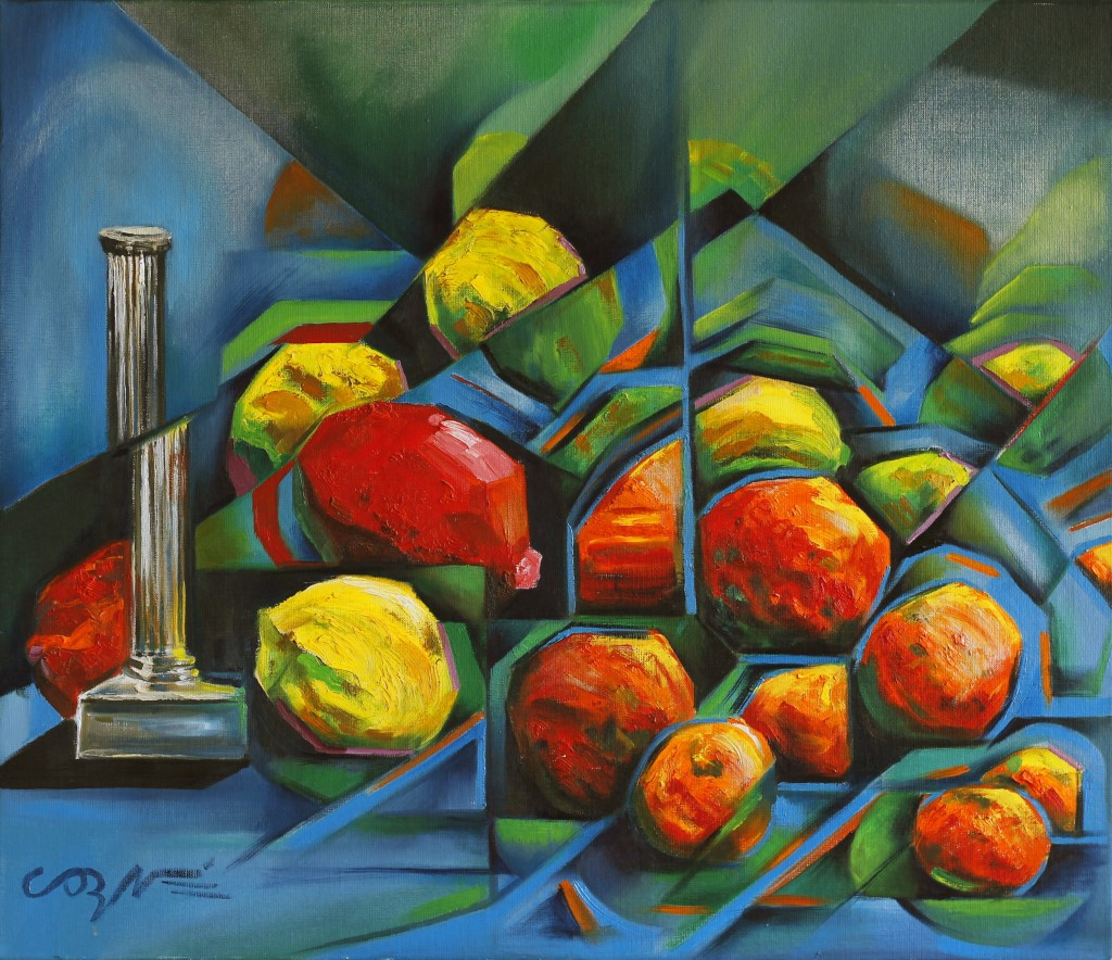 cubistic still life oil painting