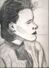 Realistic charcoal portrait sketch thumbnail
