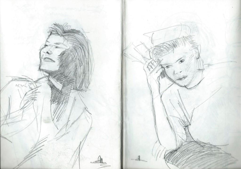 Sketchbook nudes and portraits