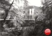 impressionistic landscape graphite pencil drawing thumbnail