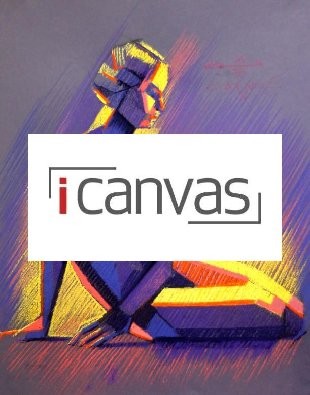 cubist pastel drawing advertisement