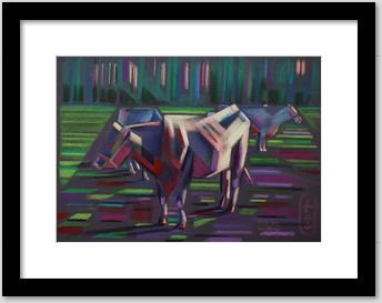cubstic animal colored pencil drawing framing example