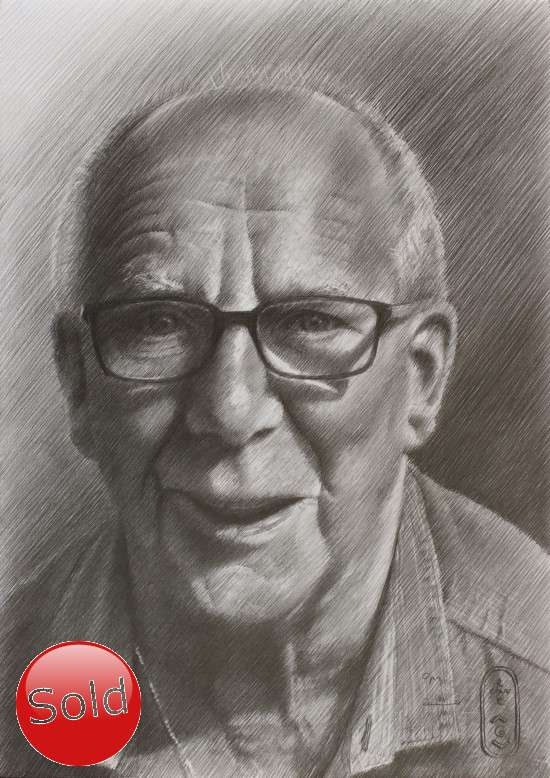 realistic portrait graphite pencil drawing promotion
