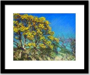 impressionistic treescape pastel drawing framing example