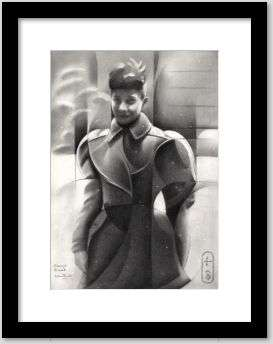 cubist girl graphite pencil drawing framing example