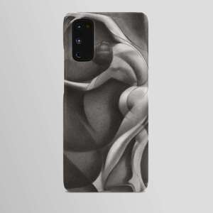 cubist nude graphite pencil drawing android case mockup