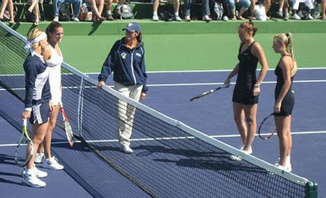 Alona and Katerina Bondarenko - Indian Wells 2008