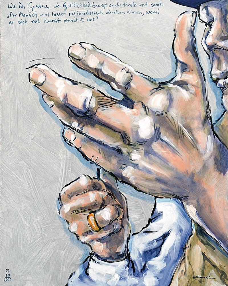 Die Hände des Künstlers