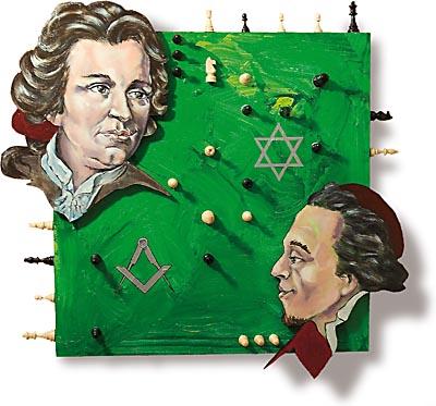 Gotthold Ephraim Lessing und Moses Mendelsohn