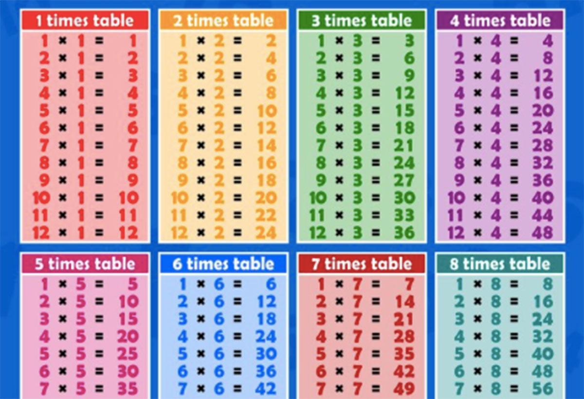The Great Summer Times Tables Maths Challenge  Cornelius Vermuyden