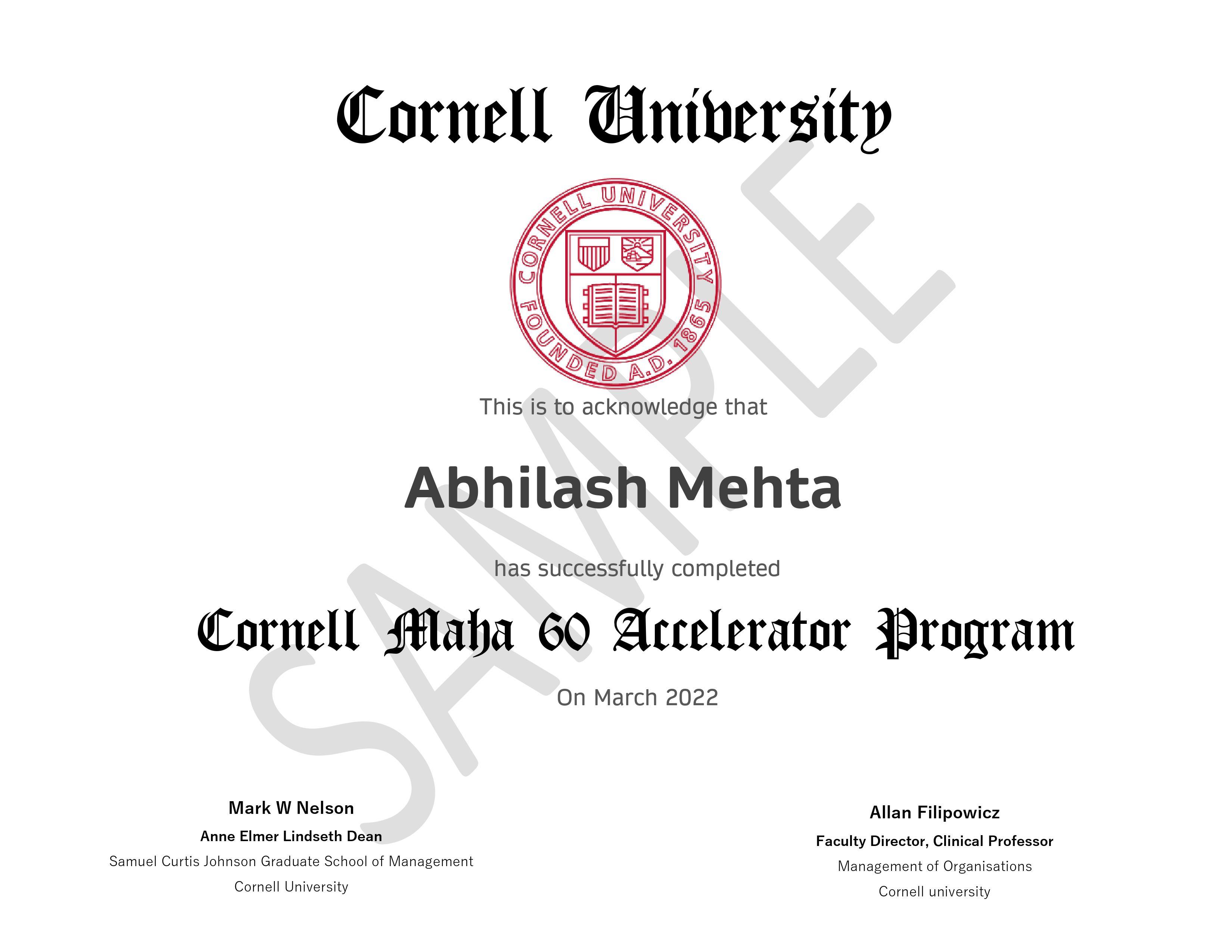 Cornell Maha 60