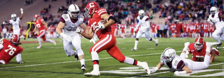 Courtesy of Cornell Athletics  In what has become a developing pattern this season, the Red came close to catching Colgate on Friday night, ultimately falling to the Raiders by one touchdown.