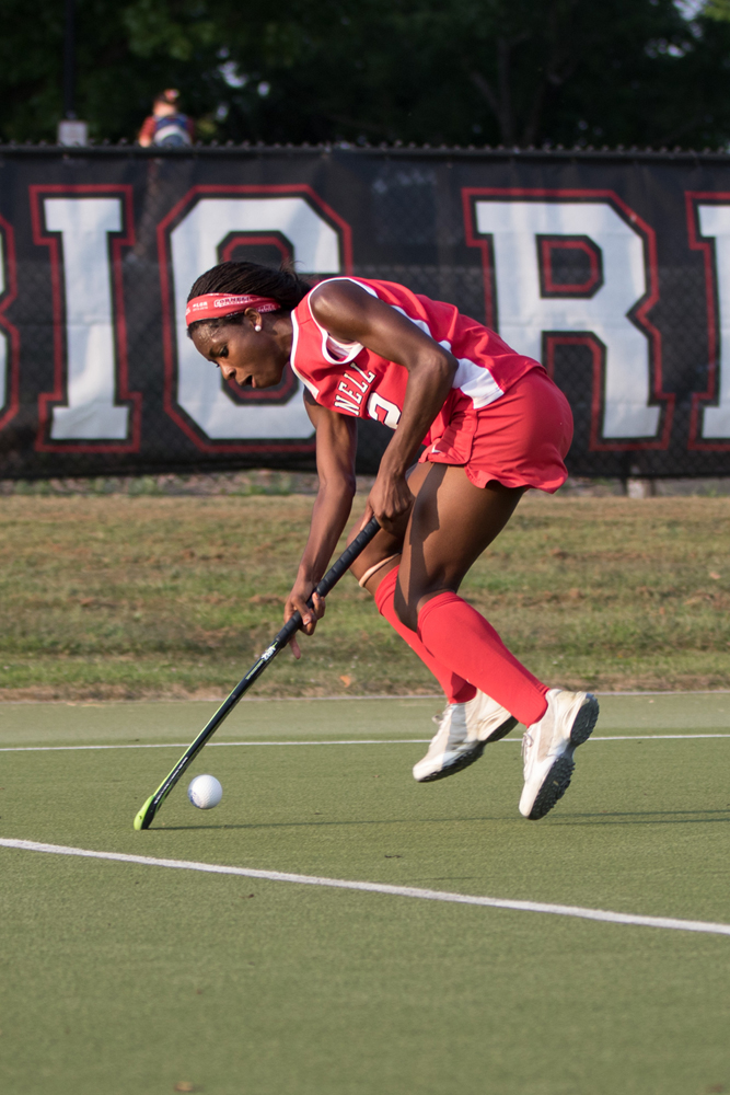 Jason Ben Nathan / Sun Senior Photographer Sophomore forward Krysten Mayers, pictured above, scored for the Red Saturday.