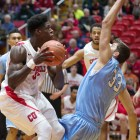The Red will rely on junior forward David Onuorah to bolster its defense this weekend.
