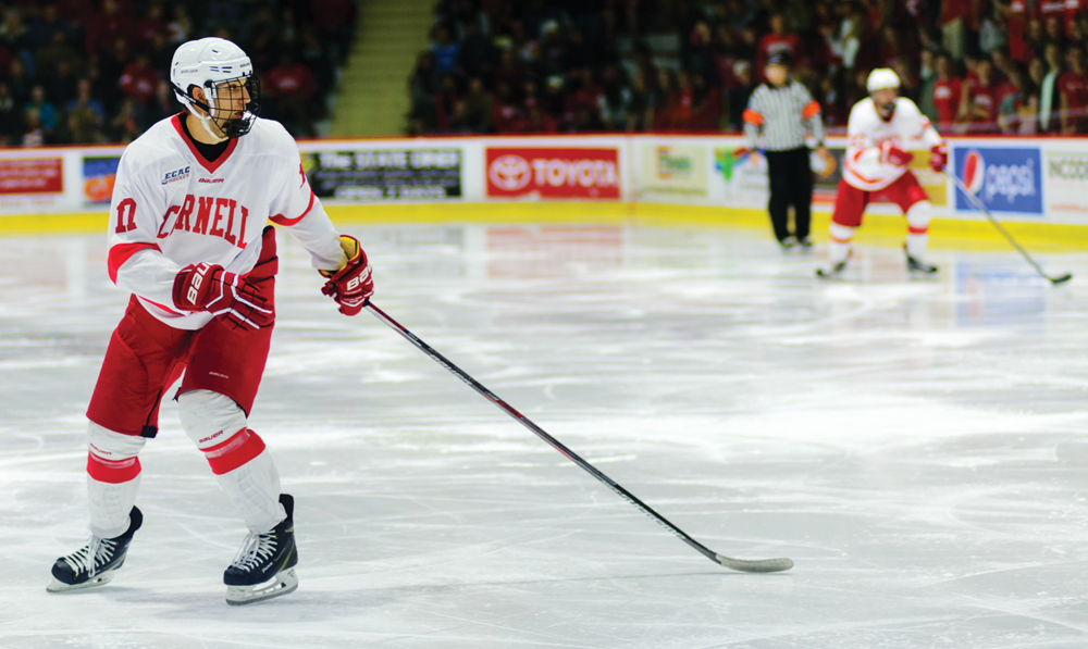 Anthony Angello has had a standout rookie seaason for Cornell so far, tallying eight goals and six assists.