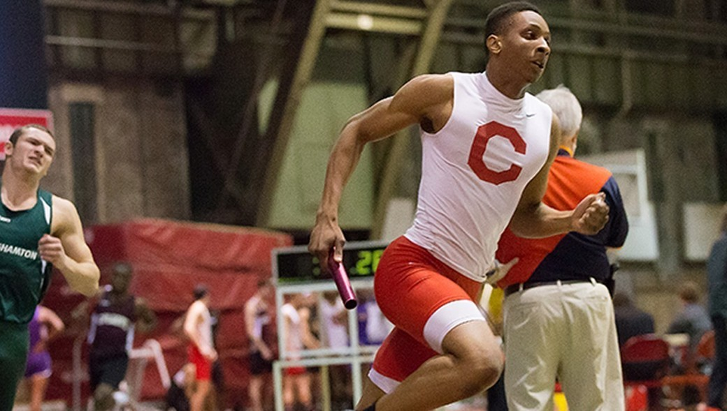 Tobe Attah will compete in the 400m dash this weekend at Ivy HEPS held in Barton Hall