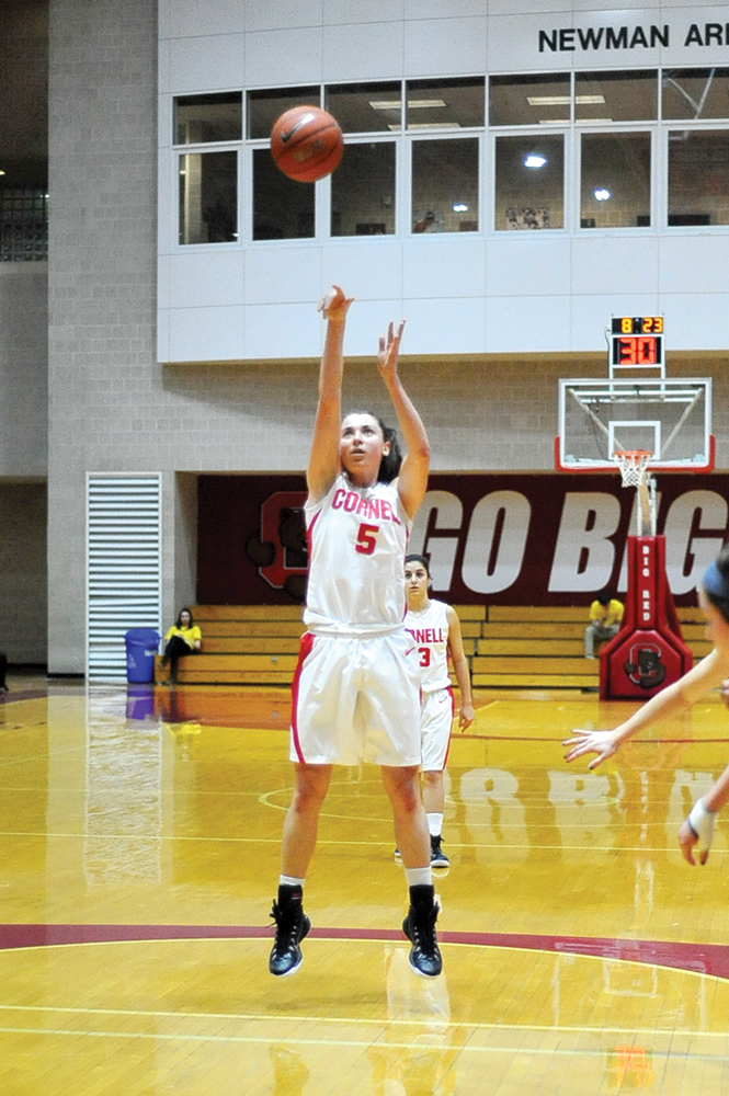 Senior guard Maddie Campbell's double-digit point effort helped the Red defeat Dartmouth at Newman Arena on Saturday.