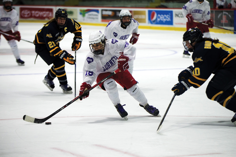 Women's hockey has secured a playoff position after defeating Dartmouth and Harvard.
