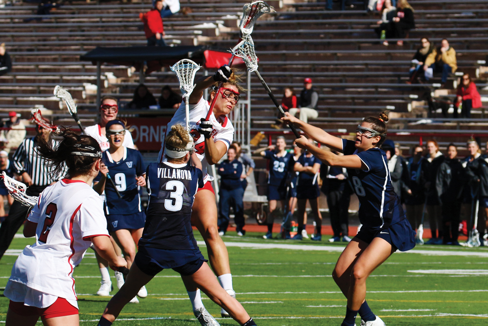 The women's lacrosse team was aided by senior Olivia Mattyasovszky's three points to earn its first win.