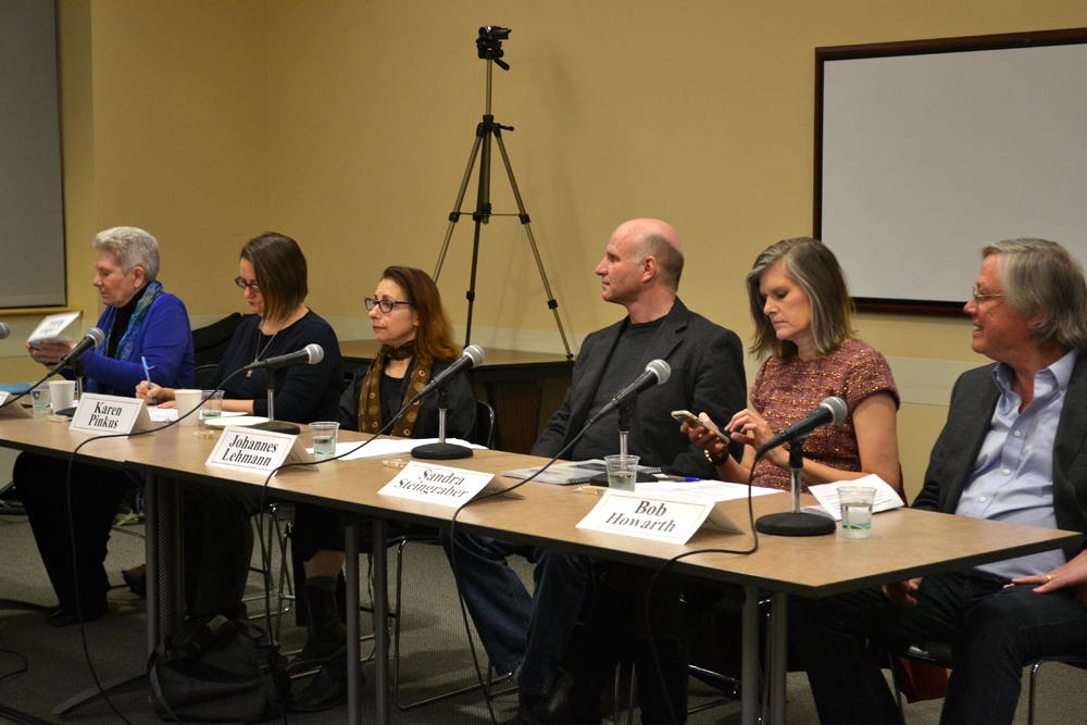 Six attendees of the 2015 United Nations Climate Change Conference discussed their experience in Paris Wednesday at the Tompkins County Public Library.