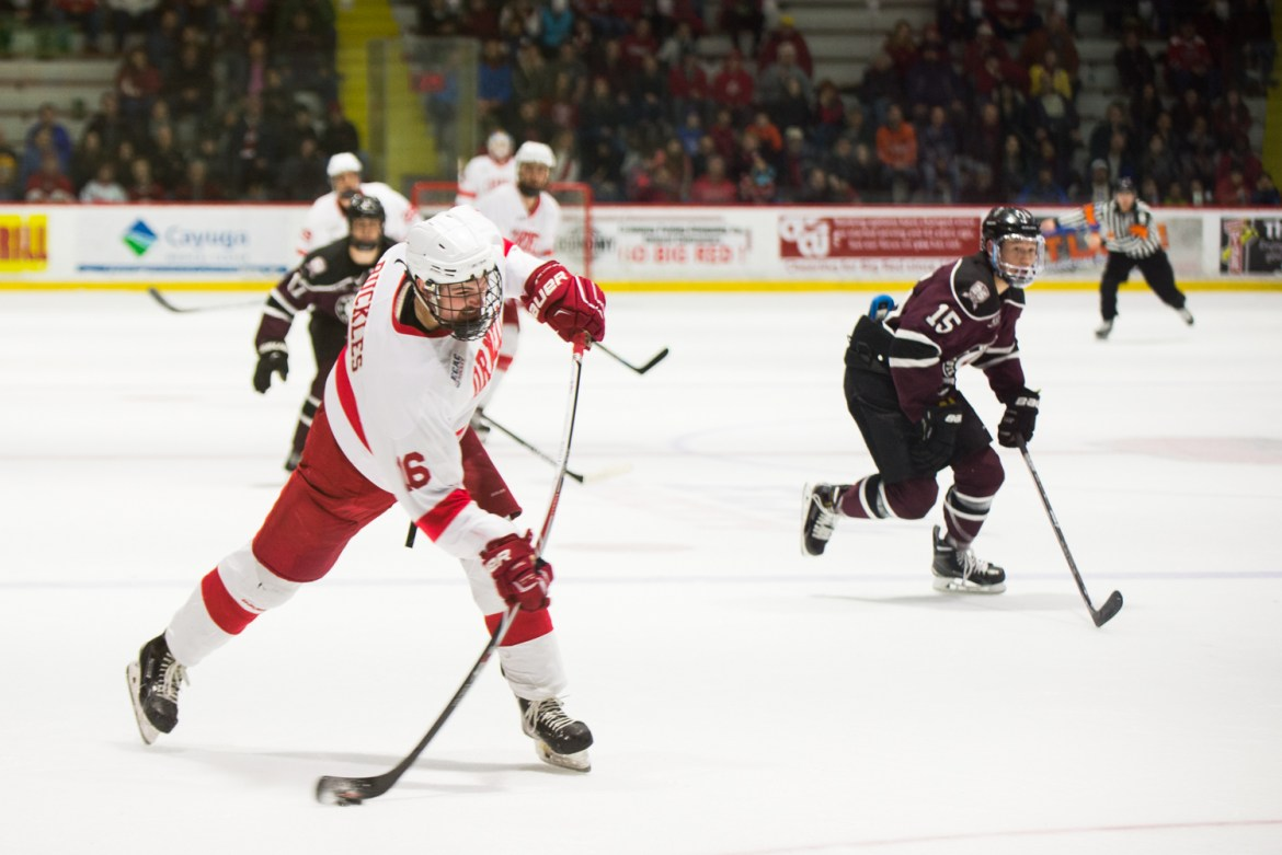 Junior forward Matt Buckles sent Cornell to the next round of the playoffs with an overtime goal against Union on Saturday