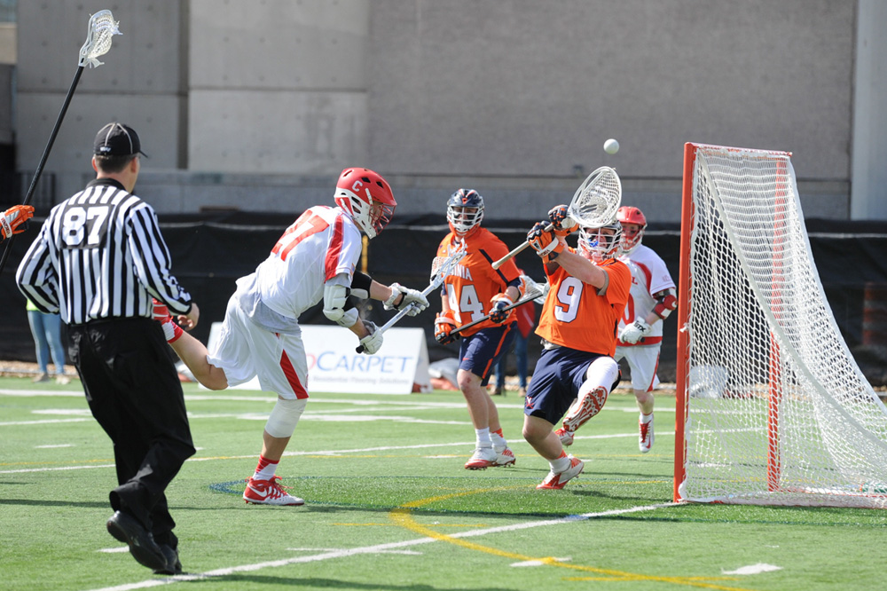 Senior attackman John Edmonds had two assists in the Red's victory over Colgate