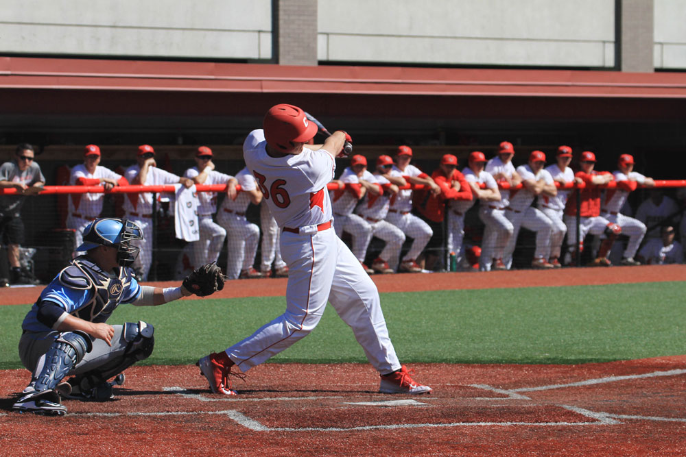 Junior first baseman Cole Rutherford hit 11-for-14 over the weekend with six RBI to help the Red beat Columbia, the Ivy defending champions, three out of four times.